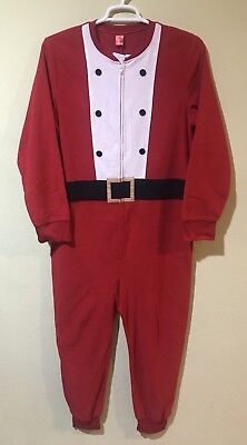 Jammies For Your Families Men Santa Claus One Piece Pajama Christmas Sz Small  (Santa Pajamas For Adults)