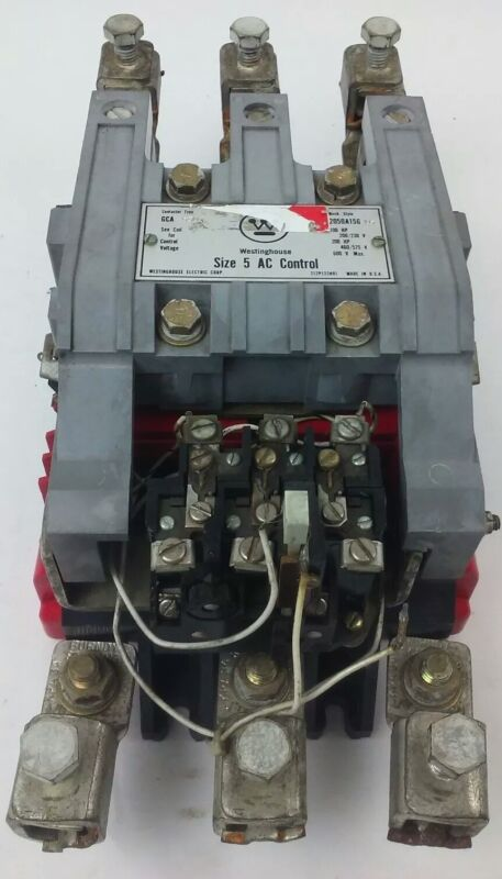 WESTINGHOUSE GCA-530 SIZE 5 AC 2050A15G15 3 STARTER POLE 600V 200 HP 460//575V
