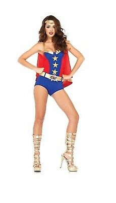 COMIC BOOK GIRL HALLOWEEN COSTUME~BOOM CAPE~USED ONCE~MEDIUM