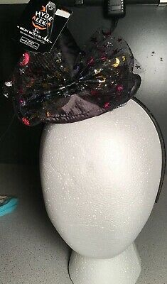 New Kids Mini Witch Hat Black Headband NWT Halloween Costume One Size Bow