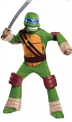 New Teenage Mutant Ninja Turtle Leonardo Halloween Costume Rubies Large 12-14