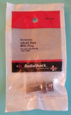 NEW! RadioShack Solderless UG-88 Male BNC Plug 2780103 278-103 *FREE SHIPPING*