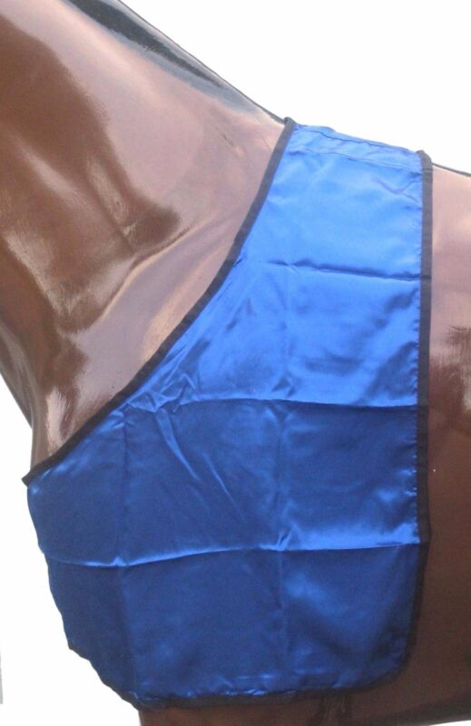 Horse Satin BIB Rug Shoulder Guard~Protects Against Rug Rubbing From Blanket