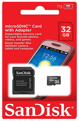 Class Mobile - SanDisk MicroSD Class 4 32GB Mobile Phone Memory Cards with adapter USA Seller