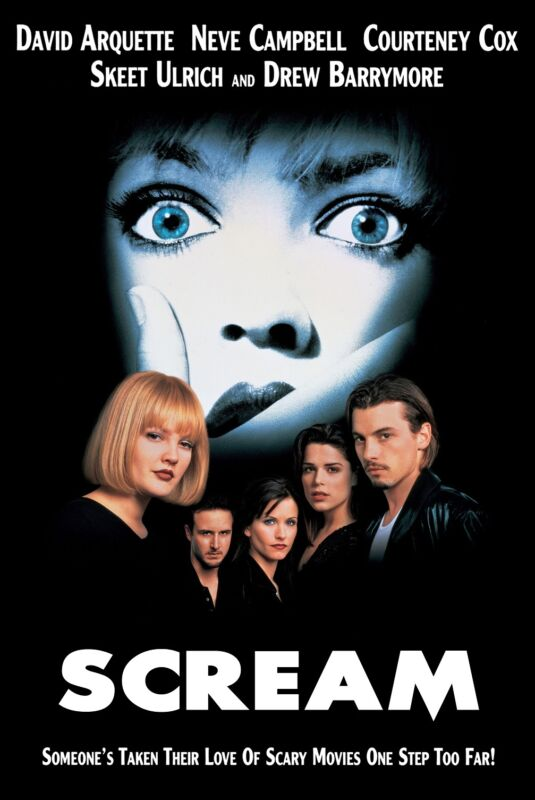 Scream movie poster print (b) Wes Craven, Horror  -  11 x 17 inches