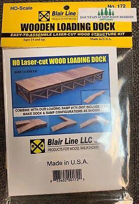 Loading Dock Kit (Blair Line 172 HO Wooden Loading Dock (kit)      MODELRRSUPPLY   $5 Coupon)