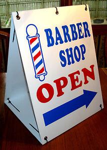 Barber Shops Open : Barber Shop Open with Arrow 2 Sided Sandwich Board Sign Kit New eBay