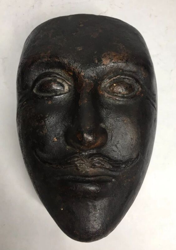 Antique 19th Century Stoneware Halloween Mask Mold - Possibly From Ohio Factory