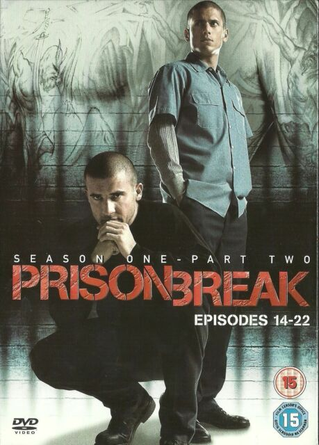 PRISON BREAK Series 1 Vol.2 (DVD) 2006, 3-Disc Set Season 1 TV DRAMA thriller