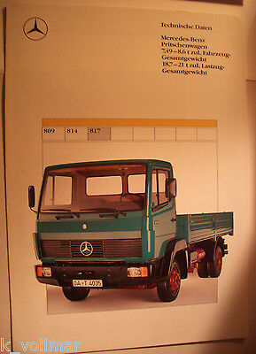 ✪sales brochure altes original Prospekt Mercedes-Benz Pritschenwagen 817