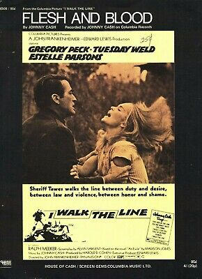JOHNNY CASH FLESH AND BLOOD SHEET MUSIC-I WALK THE LINE-GREGORY PECK-PIANO/VOCAL