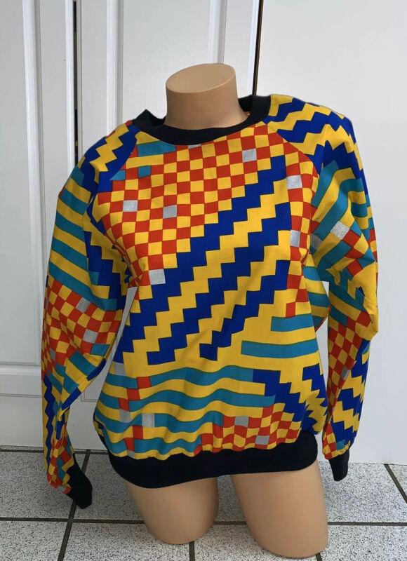 Vintage Rhapsody Glazier Sweatshirt Abstract Womens Long Sleeve NEW 1980s Sz M
