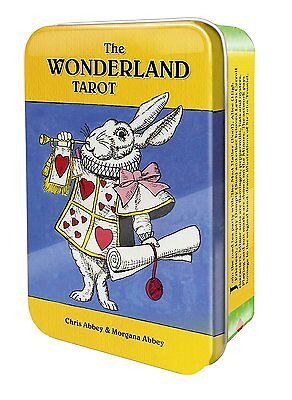 Wonderland Tarot Deck Cards in a Tin Wiccan Pagan Metaphysical
