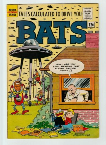 Tales Calculated To Drive You Bats #3  Archie Comic Book 1962 FN+