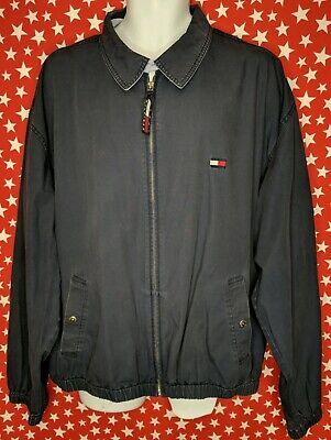 Tommy Hilfiger Men's Casual Jacket Blue Size XL vintage 90s Flag Logo A634