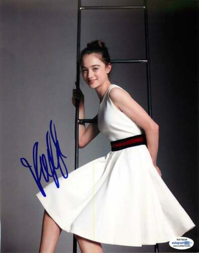 Raffey Cassidy Signed 8x10 Photo *The Other Lamb* Proof ACOA A