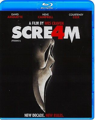 Scream 4  Wes Craven    With Slipcover  New Blu Ray