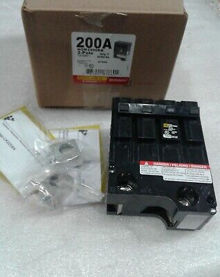 Hom2200bb Square D 2pole 120240v 200amp Circuit Breaker New In Box