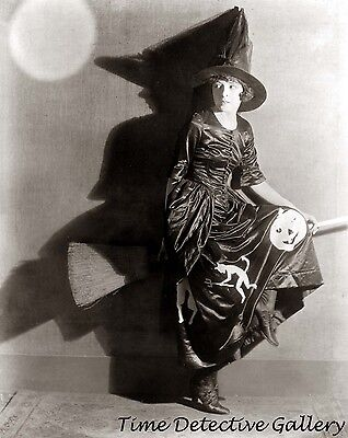 Actress In Halloween (Actress Colleen Moore in Halloween Witch Costume - Vintage Photo)