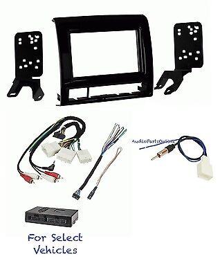 Black Car Stereo Install Kit Combo w/Steering + Amp Adapter for 2012-2013