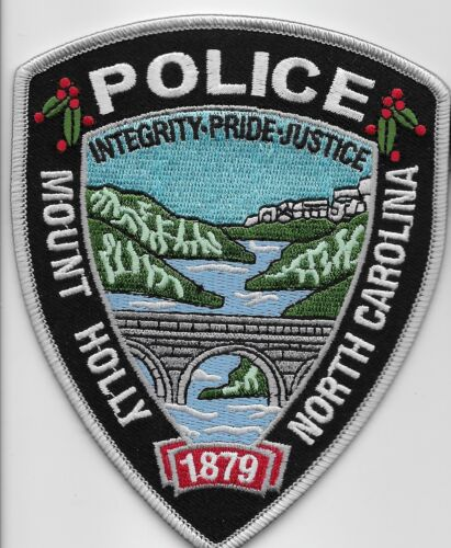 Mt Holly Police State North Carolina NC Colorful