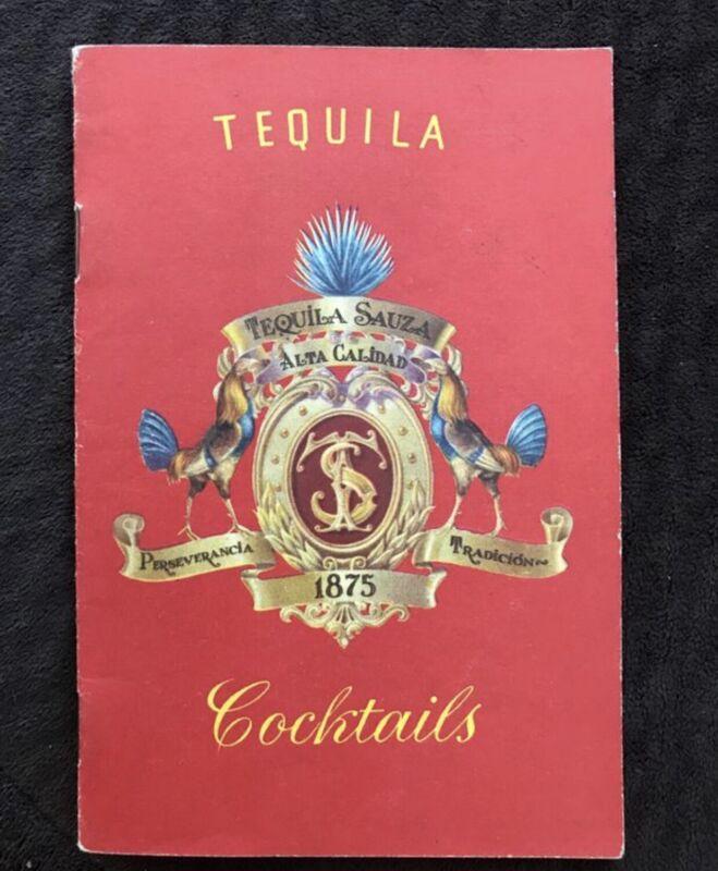 Tequila Sauza Cocktails Vintage Paperback Book Booklet