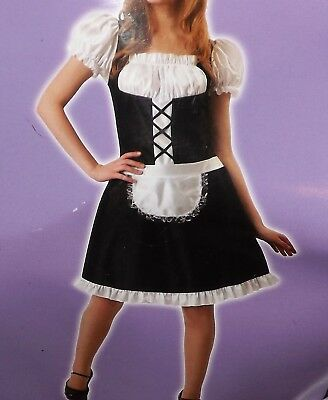 Maid Costumes For Adults (French Maid Halloween Costume for Adult, Sexy Maid Role Play Cosplay Ladies)