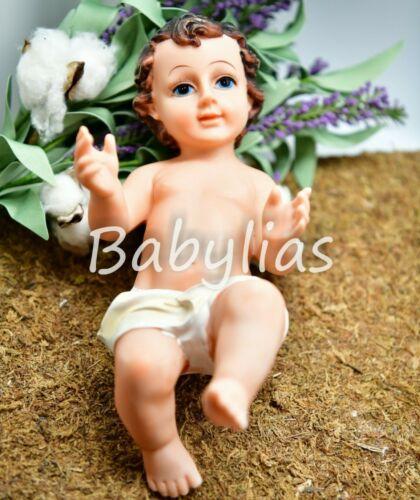 "Baby Jesus Statue Figurine Doll Nativity Scene Creche Manger Christmas 12"""