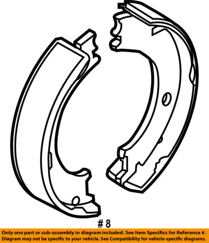 Chrysler Oem Parking Brake Shoes 68001472ab
