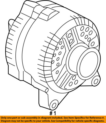Ford Oem 09 14 E 350 Super Duty Alternator 9c2z10346b