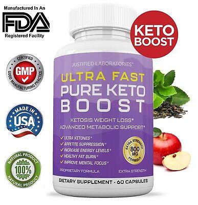 Ultra Fast Pure Keto Boost Weight Loss Diet Pills Ketogenic Supplement BHB
