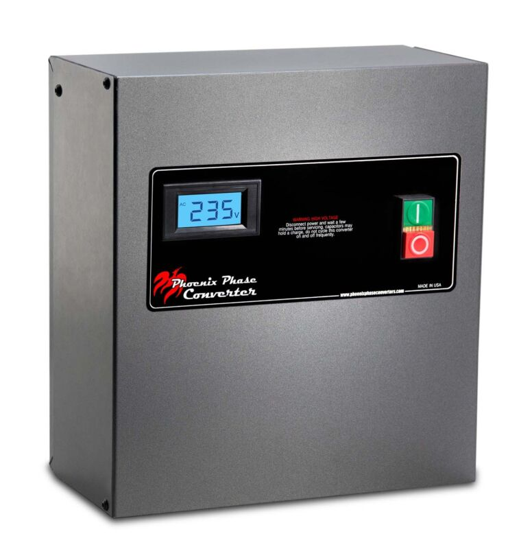 Rotary Phase Converter Panel - 10 HP - CNC Grade, Industrial Grade GP10PLVPO