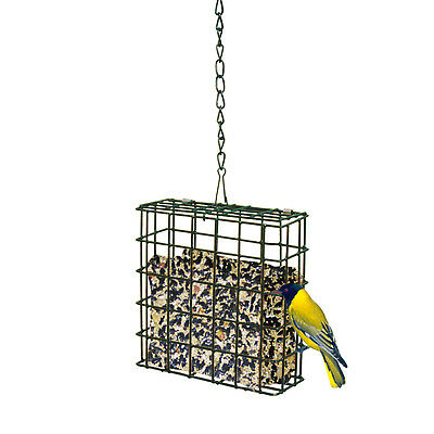 METAL SUET FEEDER Basket With Chain Hanger Cage Hanging One Cake Bird Feeding