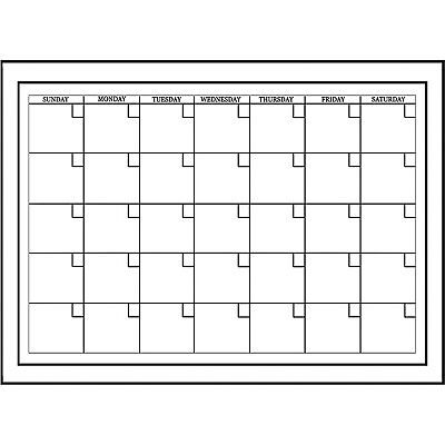 Monthly Wall Calendar Planner 24 X 18 Dry Erase Marker Board Home Office White