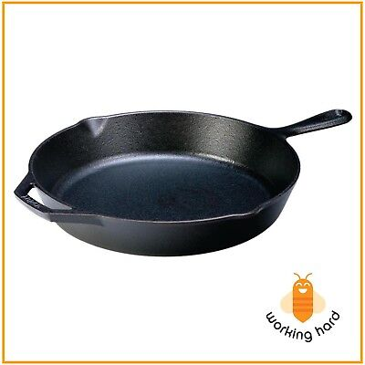 CAST IRON SKILLET 12 In Lodge Durable Pre Seasoned Cooking Pan Kitchen Cookware