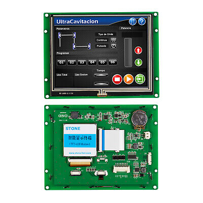 5.6 Hmi Tft Lcd Panel With Controllerrs232 Rs485 Ttl Uart Port For Industrial