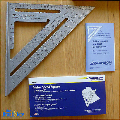 Metric Speed Square Swanson Carpenter Rafter Tool Angle Protractor Try Milter