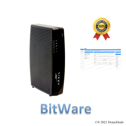 Arris TM1602 DOCSIS 3.0 Telephony Cable Modem premod with BitWare