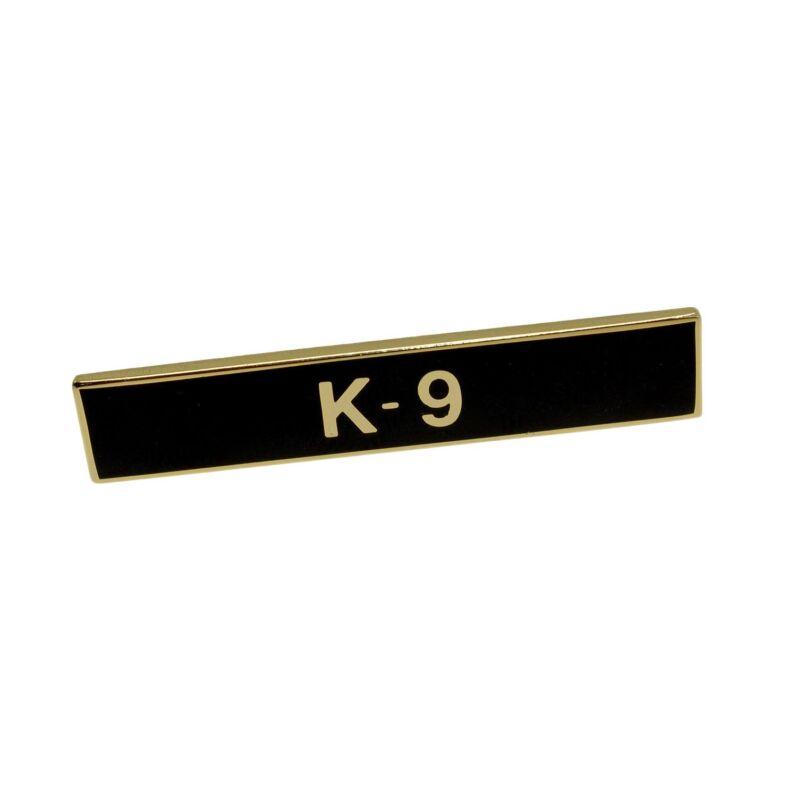 K-9 Citation Bar Canine Police Certification Merit Award Lapel Pin Gold