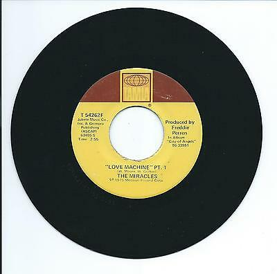 """1975 THE MIRACLES """"LOVE MACHINE"""" 45rpm 7"""""""