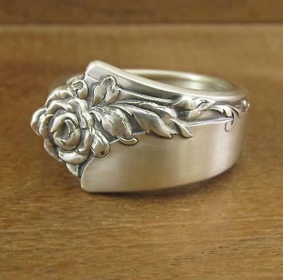 Spoon Ring Band, Oneida Damask Rose, Sterling Silver 13.6 grams, Size 9, #267