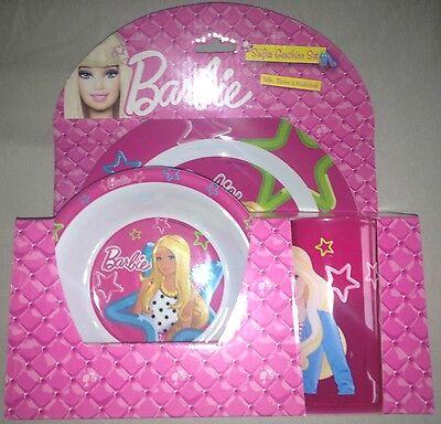 Barbie-Geschirr, Frühstück-Set Kunststoff Rosa