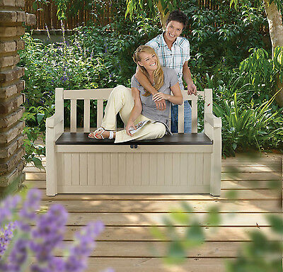 Outdoor Storage Bench Garden Pool Deck Box Weatherproof Patio Furniture Seat