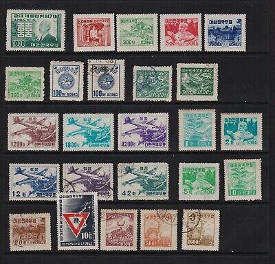 Korea - 15 older stamps