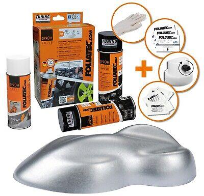 FOLIATEC SPRÜHFOLIE Farbe: Silber metallic 2310 + Versiegler Felgen Folie