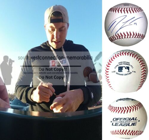 Derek Law Twins Autograph Signed Baseball Rangers Blue Jays S.F. Giants Proof