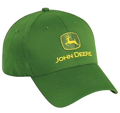 NEW John Deere Green Twill Cap JD Hat LP17596
