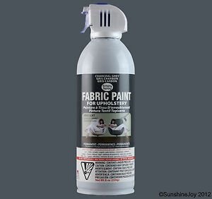 upholstery fabric spray paint 8 oz can charcoal grey gray car restorations ebay. Black Bedroom Furniture Sets. Home Design Ideas
