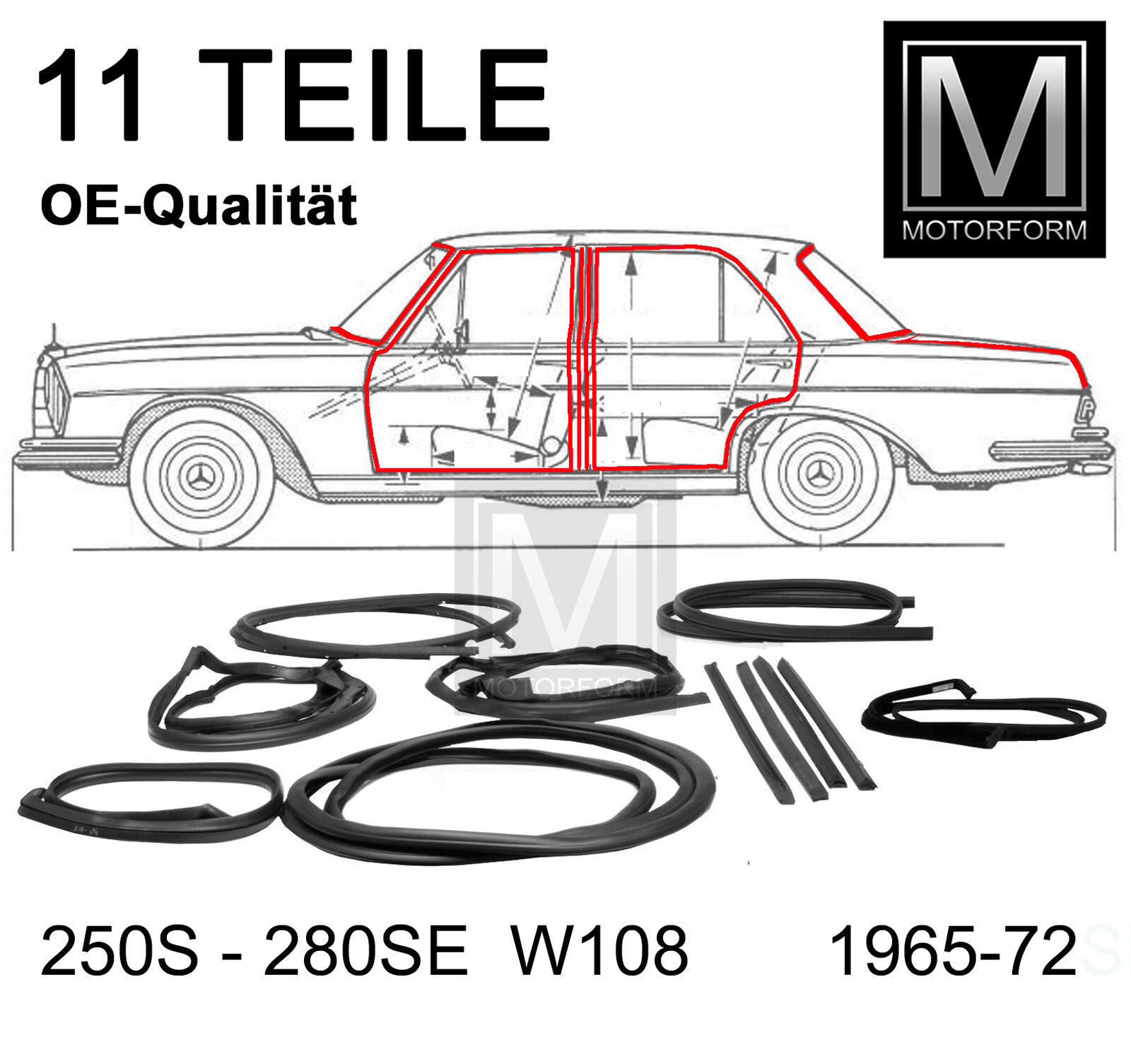 Mercedes-Benz W126 Türgummi hinten links normaler Radstand