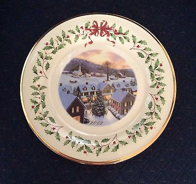 Free S H Nwt Lenox 2012 Annual Holiday Christmas Collector Plate New Excellent